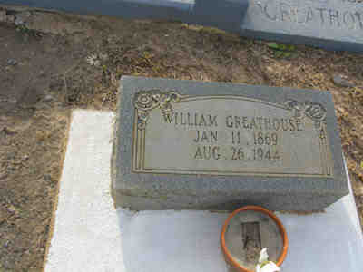 Tombstone- William M Will Greathouse