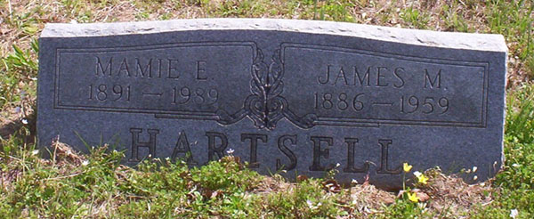 Tombstone- Mamie E. And Jame M. Hartsell