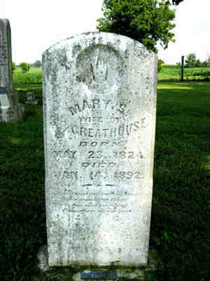 Mary S. Arnold Greathouse tombstone