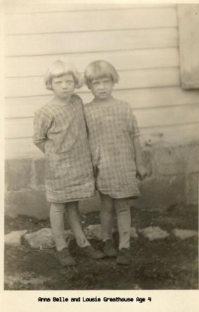 Anna Belle and Alta Lousie age 4