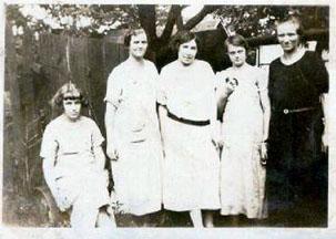 Mary Terry, Sylvia Greathouse, Dunk Sisters and Bertha Ann Terry Greathouse